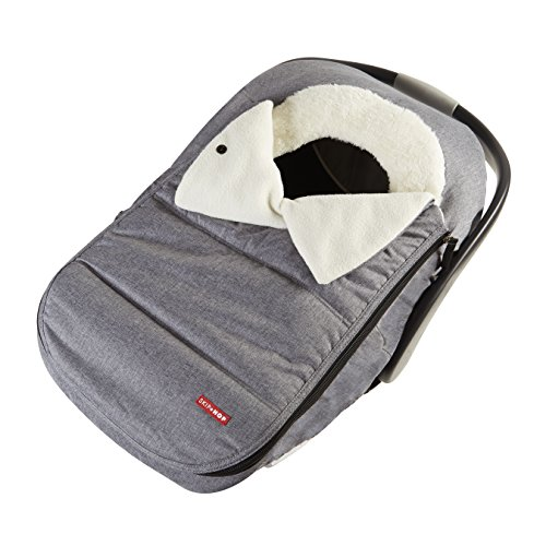 Skip Hop Stroll & Go Plush Fleece Infant And Baby Automotive Winter Car Seat Cover Heather Grey - Universal Fit