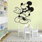 Tianpengyuanshuai Vinilo Infantil ratón Etiqueta de la Pared decoración de Dormitorio para niños Vinilo Adhesivo de Pared 28X36cm