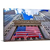 New York, New York City, Wall Street, New York Stock Exchange Canvas Wall Art Print, 36'x24'x1.25'