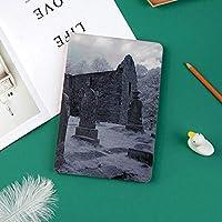Ipad Pro 11 ケース(2018モデル) 軽量 薄型2つ折スタンド オートスリープ機能付き 全面保護 2018秋発売のiPad Pro 11に対応 スマートカバー古いゴシック墓地教会墓墓石神秘主義不気味な森の芸術