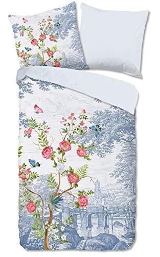 Good Morning! Renforcé 2340.20.08 Bed Linen 2-Piece Duvet Cover 135 x 200 cm and Pillowcase 80 x 80 cm Vintage Blue