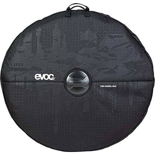"""EVOC TWO WHEEL BAG zum Transport von Laufrädern (Laufradtasche für zwei Laufräder, verstärkter Achsenschutz, integrierte Trennwand, praktische Tragegriffe, für 29"""" Reifen geeignet), Schwarz"""