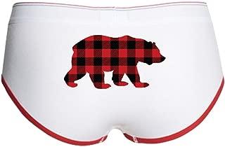 Buffalo Plaid Bear - Women's Boy Brief, Boyshort Panty Underwear with Novelty Design