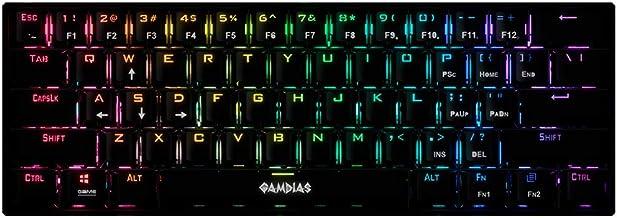 Teclado Mecânico Gamer 60% GAMDIAS Hermes E3 RGB Preto Switch Red ANSI - E3 RGB BK RED