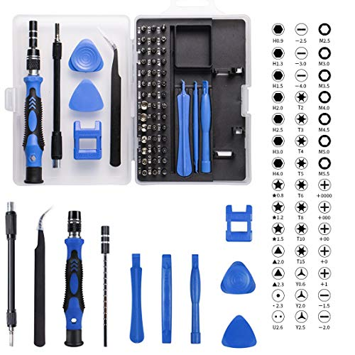 Precision Screwdriver Kit, 54 in 1 with 42 Bits Screwdriver Set, Magnetic Driver Kit with Flexible Shaft, Extension Rod for Mobile Phone, Smartphone, Game Console, Tablet, PC