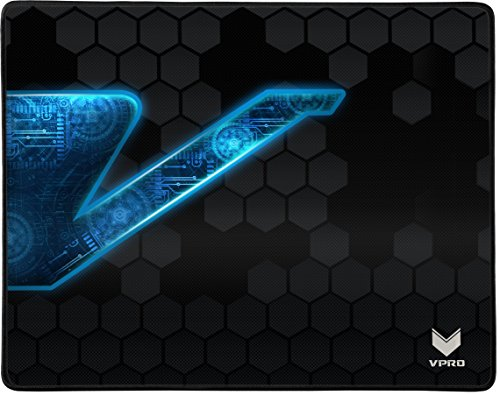 Rapoo VPRO V1000 Gaming-Mauspad für Apple, Microsoft, Poly-Fibre-Oberfläche für optimale Maussteuerung, schwarz