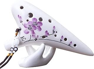 High Quality Ocarinas Ocarina 12 Hoyos AC Profesional Ocarina Alto C Tono 12 Hoyos Flauta de cerámica Instrumento Profesional para Principiantes Zimei