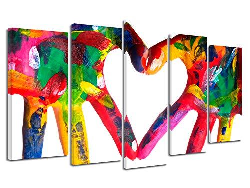 DECLINA kunstdruk op canvas, wanddecoratie XXL, abstract canvas, muurschildering, modern canvas, 150 x 80 cm 150x80 cm