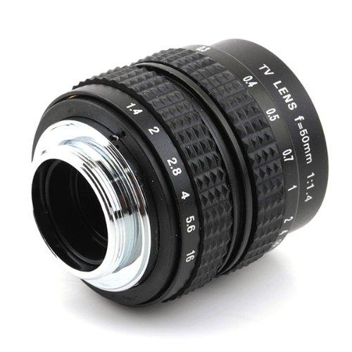 Pixco–2/3'lente de televisión/CCTV Lens para C Mount E-PL7E-PL6E-P5E-PL5E-PM2Cámara 50mm f1,4en color negro