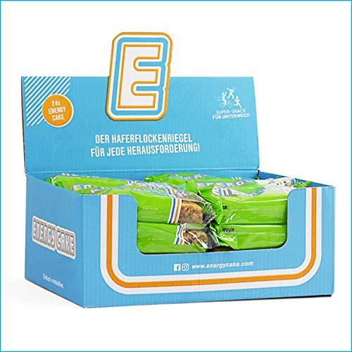 Energy Cake – Original Haferflocken Energieriegel mit langkettigen Kohlenhydraten, weniger Zucker & mehr Energie für den Alltag - Fitness Cake & Oatmeal - Apfelstrudel 24x 125g (3kg)