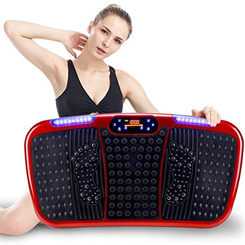 Kotee Power Plate ajustable velocidad de pérdida de plataforma vibratoria fitness Peso de la máquina de vibración de la placa perder grasa corporal tonificante Gimnasio en casa Shaker Máquinas de ejer