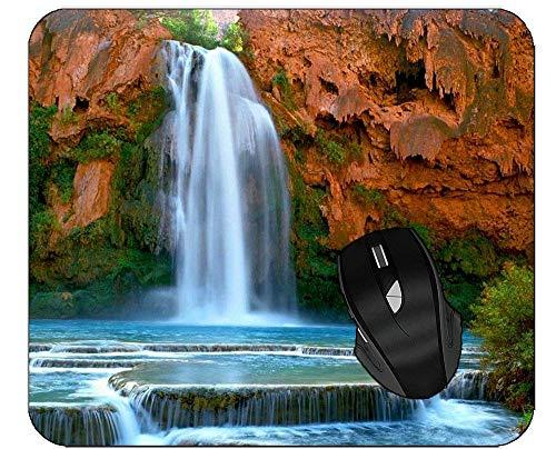 Gaming Mouse Pad Rocks Wasserfall Mousepad mit glatter Stoffoberfläche