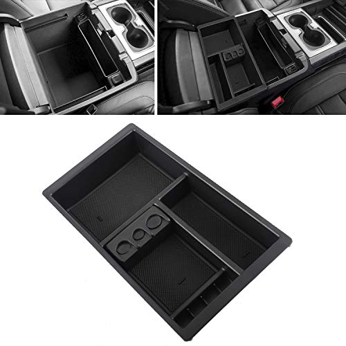 Rying Center Console Organizer Replacement for 2015-2018 for Tahoe Suburban Silverado GMC Sierra Yukon, ABS Tray Armrest Box Secondary Storage Full Console.