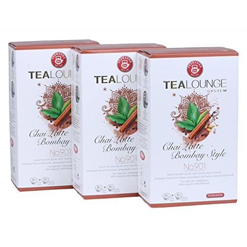 Teekanne Tealounge Kapseln - Chai Latte Bombay Style No. 901 Schwarzer Tee (3x16 Kapseln)