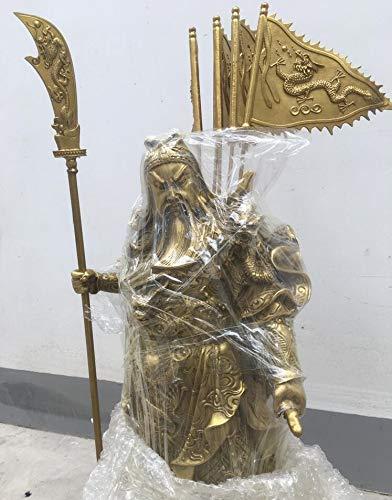 Guan Yu Estatua 65 cm Green Dragon Sword Chino latn Guan Gong Yu Guerrero God Set de Dios Sitio en la Plataforma 9 Dragon Statue Feng Shui Decoracin