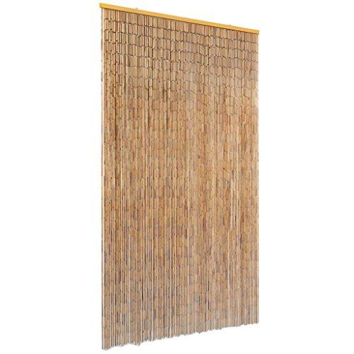 vidaXL Cortina de Bambú Puerta contra Insectos 100x200cm Protección Mosquitos