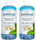Lumineux Oral Essentials Teeth Whitening Mouthwash 2pck - Certified Non Toxic | Whiter Teeth in 7 Days w/o Sensitivity | Fluoride Free | NO Alcohol, Artificial Colors, SLS Free, Dentist Formulated