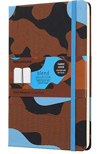 Moleskine Blend Kollektion (Large/A5, Liniert, Fester Stoffeinband) camouflage blau (EDITION LIMITEE)
