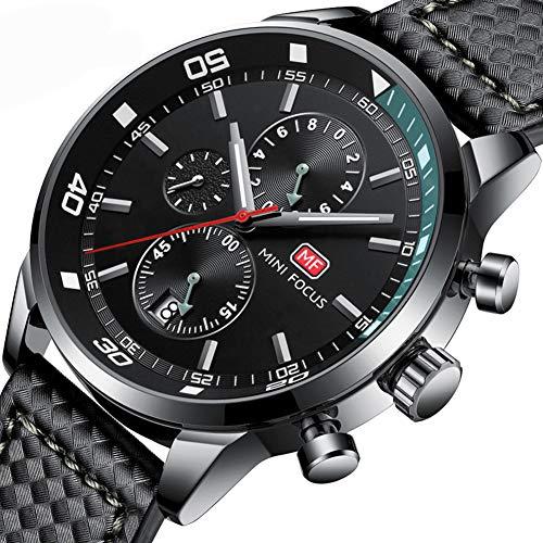 Excellent Quarz-Uhren für Männer Genf Art und Weise beiläufige Uhr-analoge Anzeige Edelstahl Gehäuse-Mesh-Band-Armbanduhr-Uhren Große Herren-Geschenk,Grau