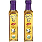 Certified Organic Extra Virgin Olive Oil - Infused with toasted Garlic, Low FODMAP, by Garlic Gold, 250 ML (Pack of 2)