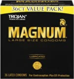 Magnum Lubricated Condoms, 36 Count
