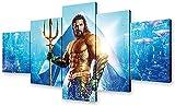 Amacigana DC Aquaman - Póster de la Liga de la Justicia de Superman HD sobre lienzo, decoración de pared para salón (sin marco)
