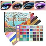 40 Color Makeup Eyeshadow Palette, Professional Eye Shadow Matte Shimmer Makeup Pallet Highly Pigmented Colorful Powder Long Lasting Waterproof Eye Shadow