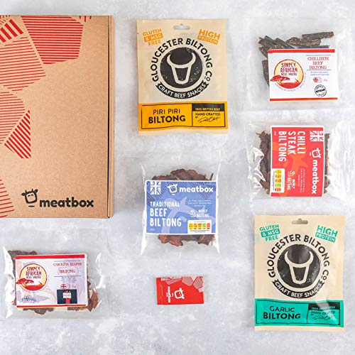 Biltong Discovery Meat Box – Discover Great UK Made Biltong – Wide Range of Flavours, Made in The UK, High Protein Craft Meats for Anyone who Loves Biltong - Ideal Biltong Food Gift