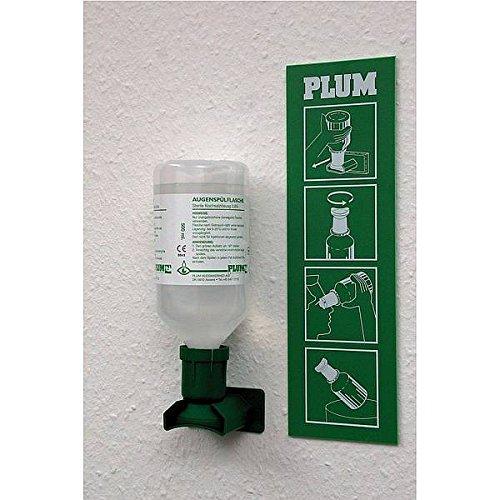LEMAX® Augenspülstation Natriumchloridlösung 1 Flasche: 0,5l Wandhalterung Kunststoff