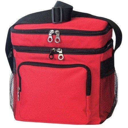 Rouge – Deluxe Poly sportives de plein air Cooler avec sac à déjeuner
