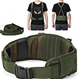 MiLuck Condor Battle Belt Military Tactical Belts for Men Molle Heavy Duty Gun Belt for Shooting War Game Paintball Hunting Sports Outdoor Army Green
