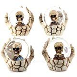 Fantasy Skeleton Hand and Skull Snow Globe