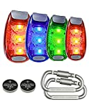 Eugar Led Safety light, Safety Strobe Lights with 4 packs for Runners, Stroller, Dogs, Bike, Walking, and Running, Flashing Warning Clip On Safety Light Night High Visibility, Include Carabiner and CR