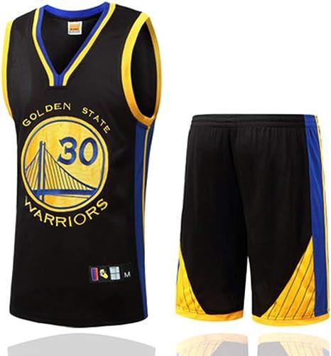 YDYL-LI oren State Warriors 30  Stephen Curry All-Star Jersey De Basket-Ball Veste De Sport sans Manches De Compétition Uniformes De L'équipe Fans Uniformes De Basket-Ball (Taille  S-XXXL),noir,L
