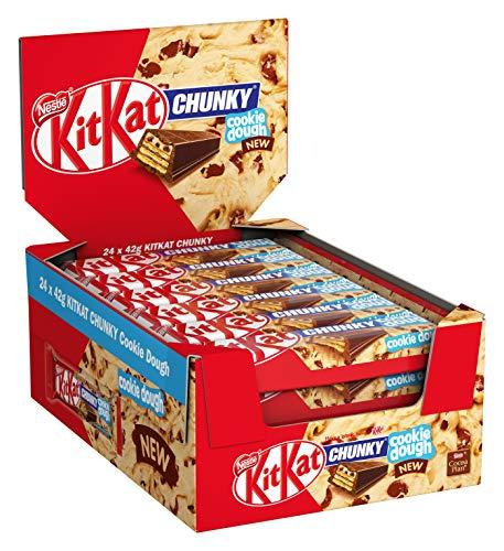 KitKat ChunKy Cookie Dough, Schokoriegel in Milchschokolade, mit knuspriger Waffel und cremiger Schicht im Keksteig-Geschmack, Multi-Pack, 1008 g