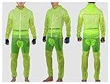 Rock Fahrrad Regenanzug für Herren und Damen Wasserfest Regenjacke Regenhose