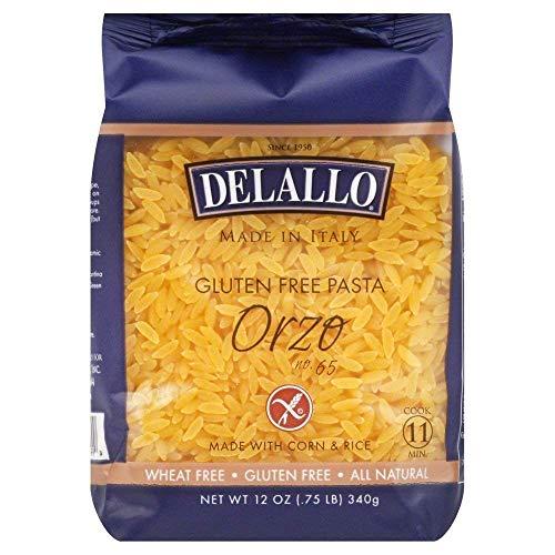 DeLallo Corn & Rice Orzo Pasta 12.0 OZ ( PACK OF 6 )