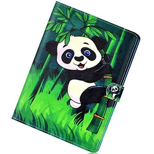 Herbests Kompatibel mit Amazon Fire HD 8 2016/2017 Hülle Ultra Dünn Schutzhülle PU Ledertasche Smart Cover Lederhülle Ständer mit Pencil Halter Auto Schlaf/Wachen Magnetisch Kartenfächer,Panda