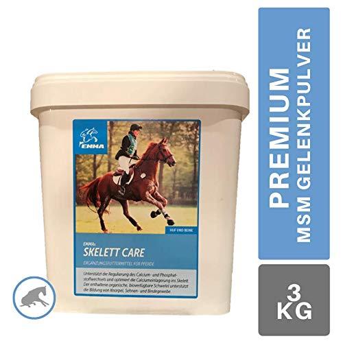 MSM Pulver I Calcium Vitamin C K 3 I Zusatzfutter Gelenk Skelett akut Pferd I Bewegungsapparat I Knochenaufbau & Phosphatstoffwechsel I komplex Schwefelpulver Sehnen starke Gelenke 3 Kg