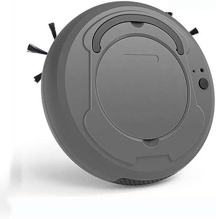 QYSHH Aspiradora Robot Súper Delgada, Robot Aspirador 3 en 1, Succión 1800Pa, Silenciosa, para Semillas de melón, migajas, Polvo, Cabello, astillas de Madera: Amazon.es: Hogar