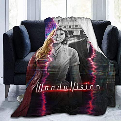 Wandavis-ion - Manta súper suave, ligera y ligera para cama, sofá o silla para todas las estaciones para adultos y niños