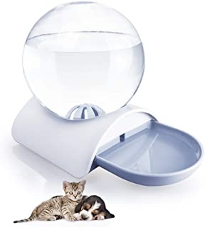 BENZHI Automatic Pet Dog Cat Water Dispenser Bowl Gravity Pets Waterer Feeder self Watering Bowls Drinking Fountain for Cats Dogs 2.8L