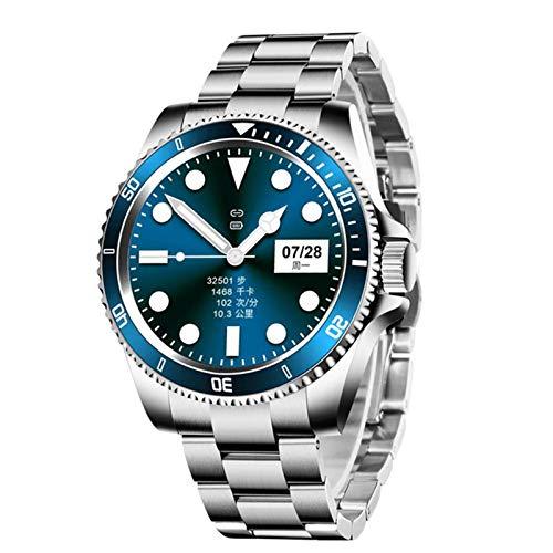 zyz Z69 Smart Watch Ladies Business Men's Business Retro Deportes Fitness Bluetooth Música Classic Pantalla Redonda Completa Impermeable Fitness Smart Watch Watch,Azul