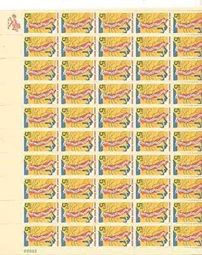 Great River Road Sheet of 50 x 5 Cent US Postage Stamps Scott 1319 by USPS