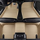 Hunulu Alfombrilla De Coche para BMW 5 Asientos Serie 3 E90 F30 G20 Compact E36 Convertible E93 3 Coupe E46 E92 Touring E91 F31 Alfombrillas Coche Alfombra Moqueta Accesorios Coche, Beige,