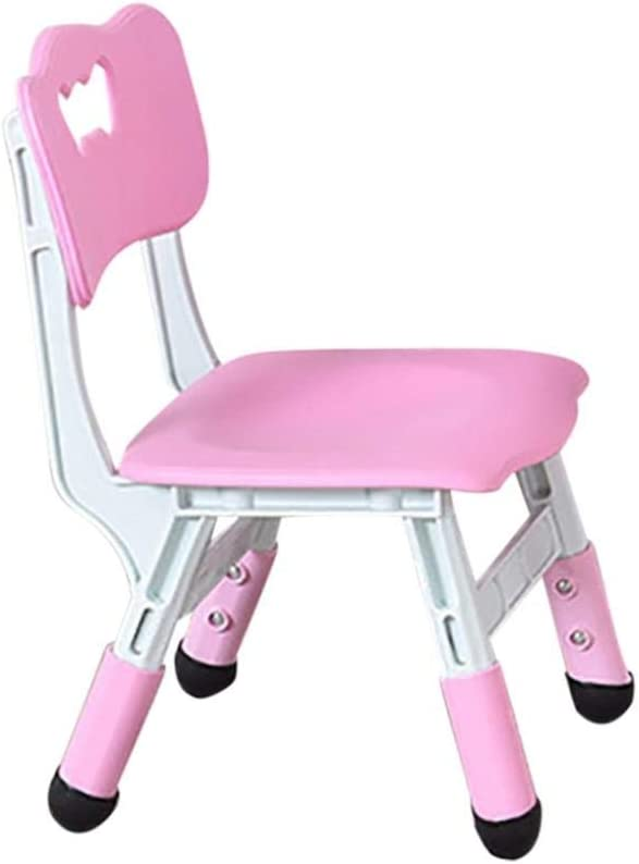 Childrens Liftable Learning Chairs Convenient Stable Kids Learning Chairs for Girls Stylish and Durable Ergonomically Designed Pink Three-Stage Adjustable Chairs Small for Home School