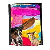 Grand Phone Cases Cuero Original Sujetadora Tarjeta Crédito Identificación Dinero // Q05600641 Chihuahua Perro Obra de Arte // Small Size Wallet