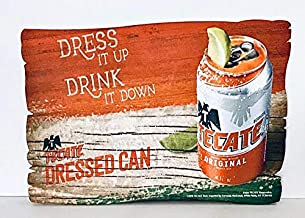 Tecate Cerveza Dressed Can Wood Sign