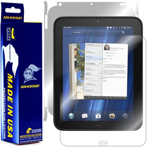 ArmorSuit MilitaryShield Full Body Skin Film + Screen Protector for HP TouchPad - Anti-Bubble HD Clear Film