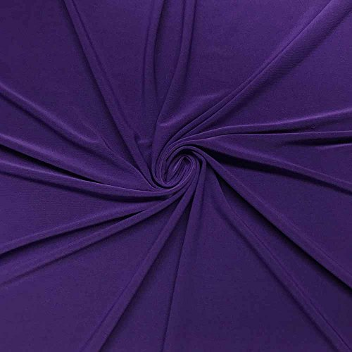 ITY Fabric Polyester Lycra Knit Jersey 2 Way Spandex Stretch 58' Wide by The Yard (1 Yard, Purple)